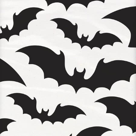 Black and White Bats Tablecover I Modern Halloween Party Tableware I My Dream Party Shop UK