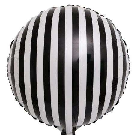Black and White Striped Foil Balloon I Monochrome Party I My Dream Party Shop UK