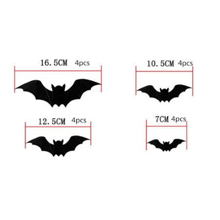 Black Bat Cutout Silhouettes I Modern Halloween Party Decorations I My Dream Party Shop I UK