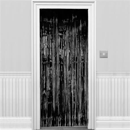 Black Metallic Door Curtain I Black Party Decorations I UK