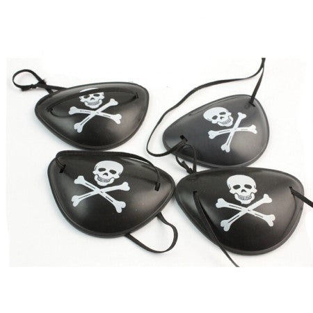 Black Skull and Crossbones Pirate Eye Patch I Pirate Party Bag Favours and Decorations I My Dream Party Shop I UK