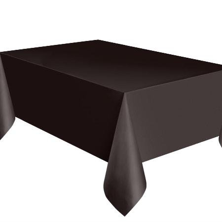 Black Rectangular Plastic Tablecloth I Coloured Party Table Covers I My Dream Party Shop I UK