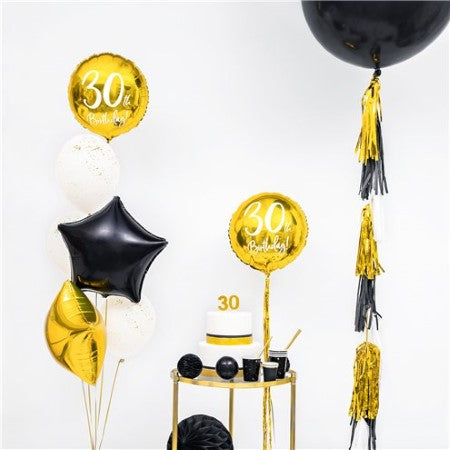 Black Star Balloon I Modern Foil Balloons I My Dream Party Shop I UK