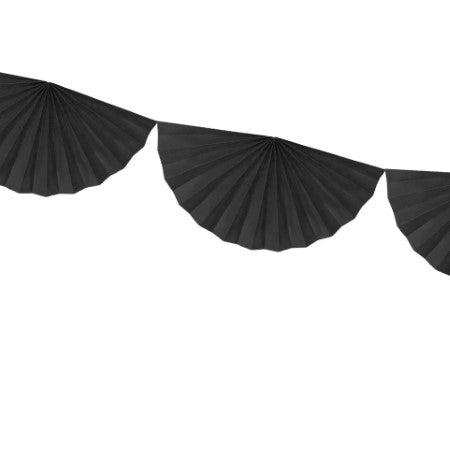 Black Fan Garland I Garlands and Bunting I My Dream Party Shop I UK