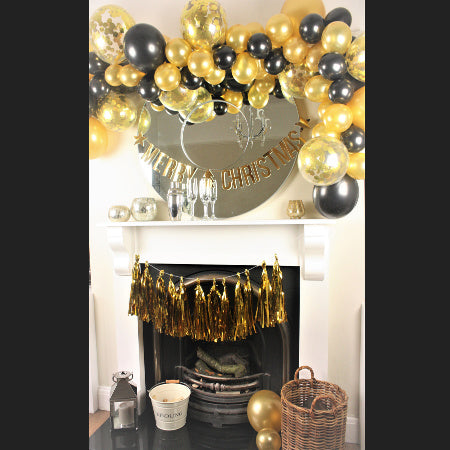 Gold and Black Balloon Garland Kit I Cool Party Balloons I My Dream Party Shop I UK