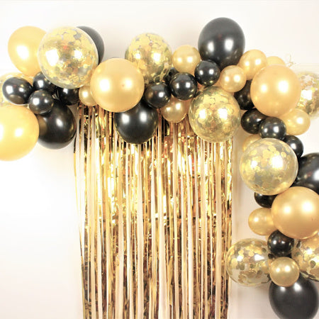 Black and Gold Balloon Garland Kit I Balloon Decorations I My Dream Party Shop I UK
