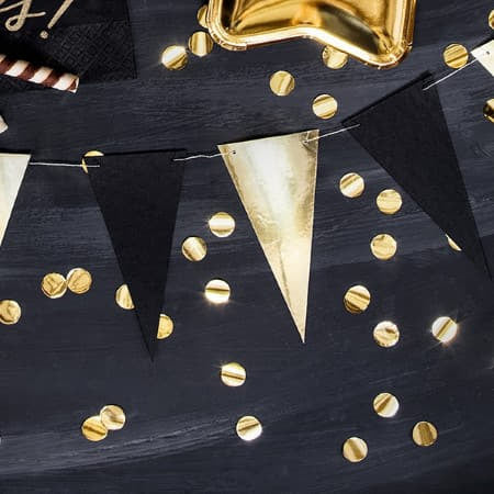 Mini Black and Gold Bunting I Garlands and Bunting I My Dream Party Shop I UK