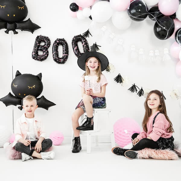 Black Boo Halloween Balloons I Modern Halloween Party I My Dream Party Shop I UK
