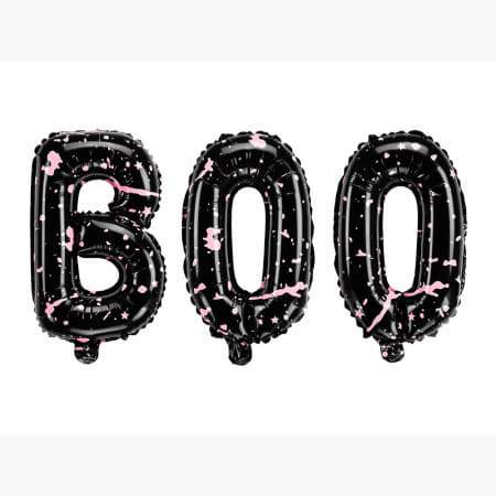 Pink and Black Boo Halloween Balloon Bunting I Modern Halloween Party I My Dream Party Shop I UK
