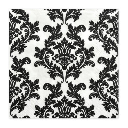Black and White Damask Napkins I Modern Party Tableware I My Dream Party Shop I UK