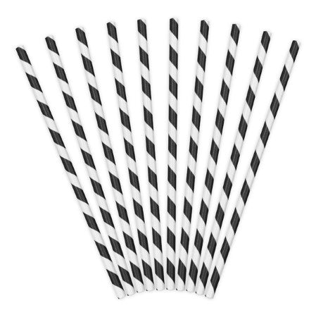 Black and White Striped Straws I Cool Party Tableware I My Dream Party Shop I UK