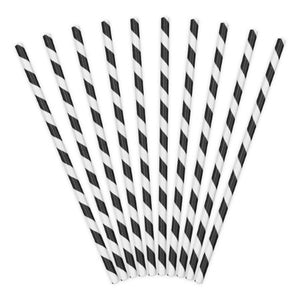 Black and White Striped Paper Party Straws I My Dream Party Shop I UK