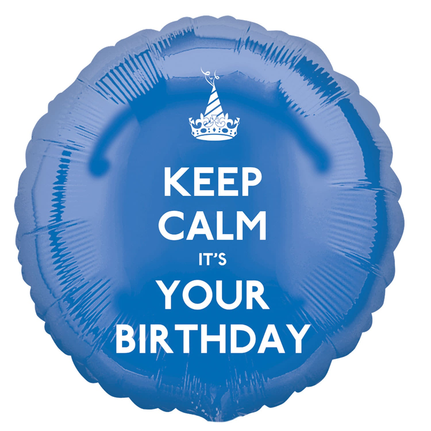 Blue Keep Calm It's Your Birthday Balloon I Modern Party Balloons I My Dream Party Shop UK