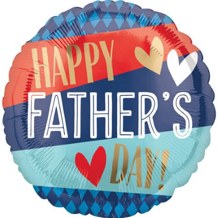 Blue, Red and Gold Fathers Day Balloon I Modern Farthers Day Balloons I My Dream Party Shop UK