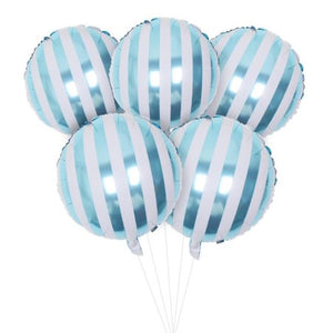 Candy Striped Lollipop Blue Foil Round Balloons I Gorgeous Balloons & Decorations I My Dream Party Shop I UK