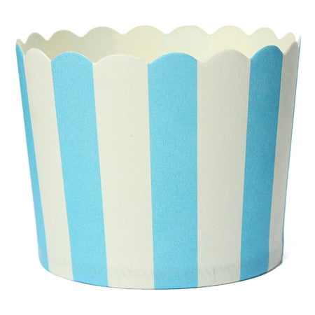 Blue and White Striped Baking Cups I Modern Party Tableware I My Dream Party Shop I UK