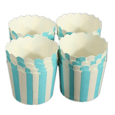 Blue and White Striped Baking Cups I Modern Cake Accessories I My Dream Party Shop I UK