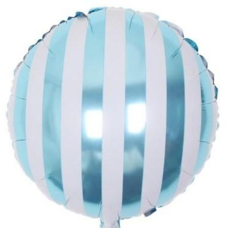 Candy Striped Blue Foil Balloons I Cool Balloons I My Dream Party Shop I UK