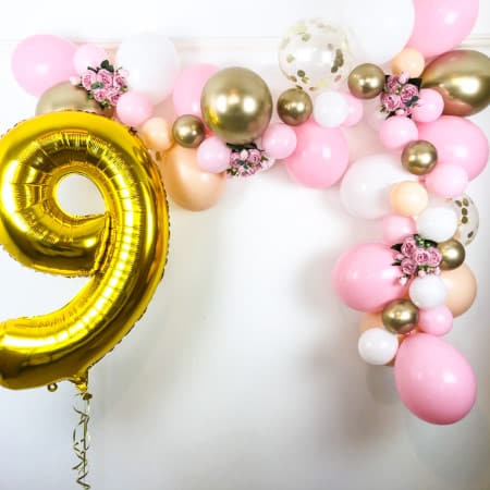 Blush, Pink, White and Chrome Gold Balloon Garland Kit I Balloon Arch Kits I My Dream Party Shop UK
