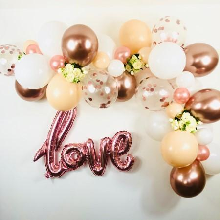 Blush, White and Rose Gold Balloon Garland Kit I Balloon Cloud Kits I My Dream Party Shop I UK