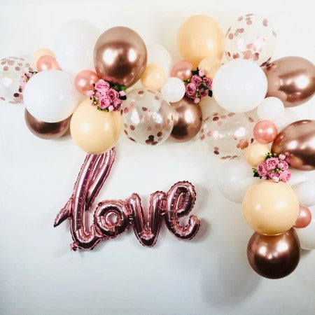 Blush, White and Rose Gold Balloon Garland Kit I DIY Wedding Decoration I My Dream Party Shop I UK