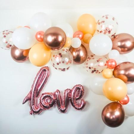 Blush, White and Rose Gold Balloon Garland Kit I Modern Balloon Decorations I My Dream Party Shop I UK