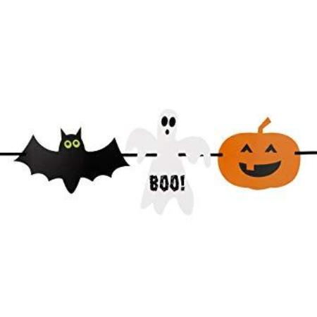 Happy Halloween Black and Orange Bunting - My Dream Party Shop