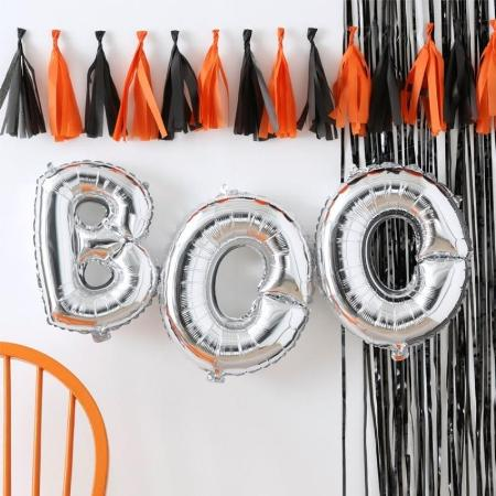 Silver Halloween Boo Balloons I Halloween Party Decorations I My Dream Party Shop I UK
