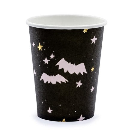 Boo Pink and Black Halloween Cups I Modern Halloween Party Supplies I My Dream Party Shop I UK