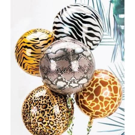 Metallic Giraffe Print Orbz Balloon I Jungle Party Balloons I My Dream Party Shop UK