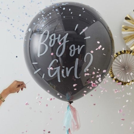 Boy or Girl Gender Reveal Balloon I Helium Inflated for Collection I My Dream Party Shop Ruislip