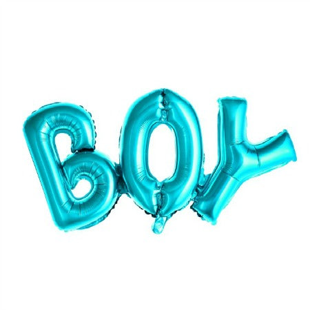 Metallic Foil Blue Boy Balloon I Baby Shower or Gender Reveal Party I My Dream Party Shop I UK