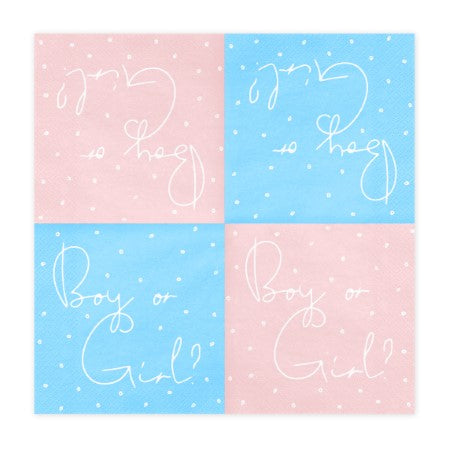 Boy or Girl Pale Pink and Blue Napkins I My Dream Party Shop I UK