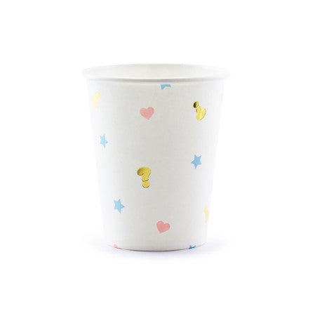 White Boy or Girl Gender Reveal Cups I Gender Reveal Party I My Dream Party Shop I UK