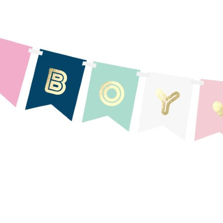 Boy or Girl Baby Shower Garland I Gender Reveal Party Decorations I My Dream Party Shop UK