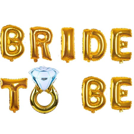 Gold Bride to Be Balloon Bunting I Modern Hen Party Balloons I My Dream Party Shop I UK