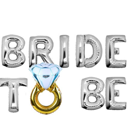 Bride To Be Silver Bunting Phrase Balloons I Hen Party Balloons & Decorations I My Dream Party Shop I UK