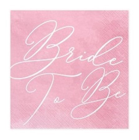 "Pink ""Bride to Be"" Napkins"