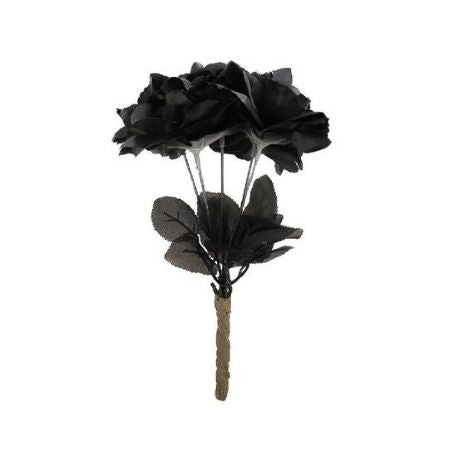 Spooky Artificial Black Roses I Modern Halloween Decorations I My Dream Party Shop UK
