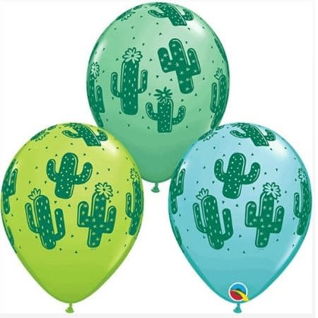 Cactus Latex Balloons I Cool Cowboy Party Supplies I My Dream Party Shop UK