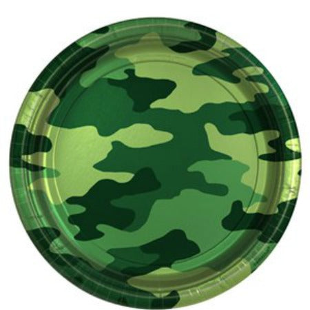 Camouflage Army Paper Party Plates - 23cm, 8 Pack - My Dream Party Shop