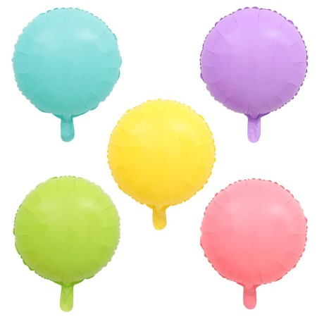 Candy Macaroon Round Foil Balloons x 10 I Cool Party Balloons I My Dream Party Shop I UK