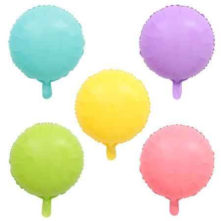 Round Pastel Foil Balloons x 5 I Cool Party Balloons I My Dream Party Shop I UK