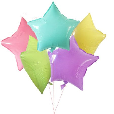 Pastel Star Foil Balloons I Set of 10 Cool Foil Balloons I My Dream Party Shop I UK