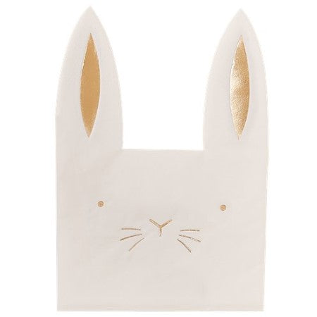 Carrot Crunch Bunny Shaped Easter Party Napkins I Ginger Ray I Easter Tableware I UK