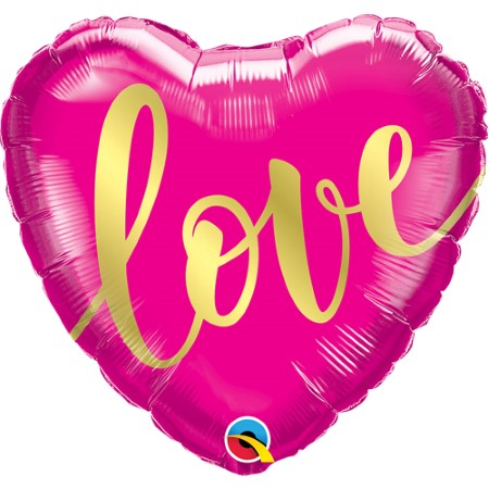 Cerise Pink Love Heart Balloon I Valentines Day Helium Balloons I My Dream Party Shop