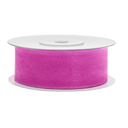 Pretty Dark Pink Chiffon Party Decoration Ribbon I My Dream Party Shop I UK