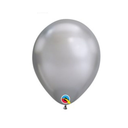 Silver Chrome Qualatex 11 Inch Party Balloons - Pack of 5 I My Dream Party Shop I UK