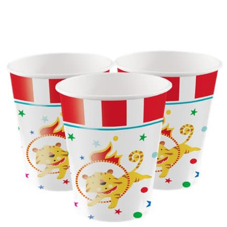 Circus Party Cups I The Greatest  Showman Circus Party I My Dream Party Shop UK