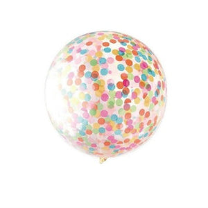 Rainbow Confetti Filled 36 Inch Latex Balloon - My Dream Party Shop